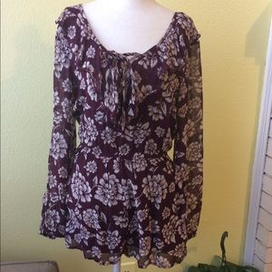 Band Of Gypsies Romper, Long Sleeve Size Small